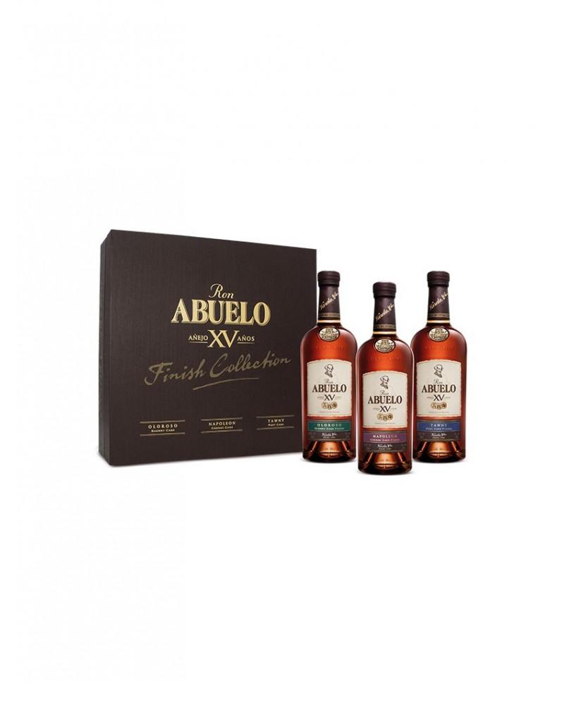 Estuche 3 botellas Ron Abuelo Añejo XV Años